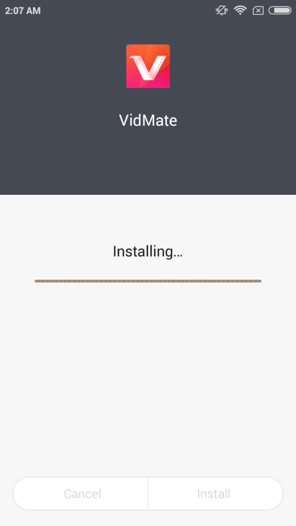 Install Vidmate app Android