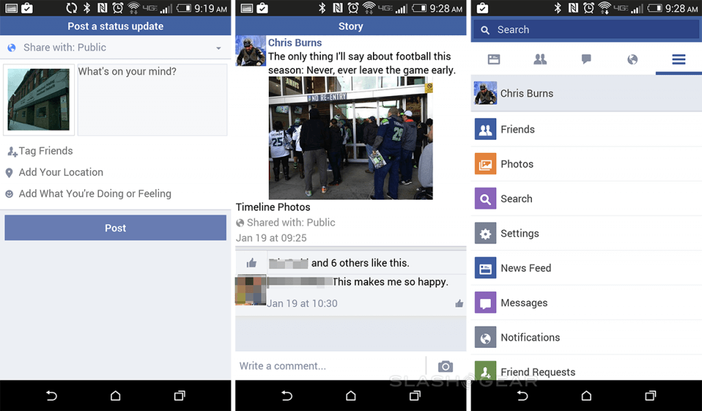 Facebook Lite features